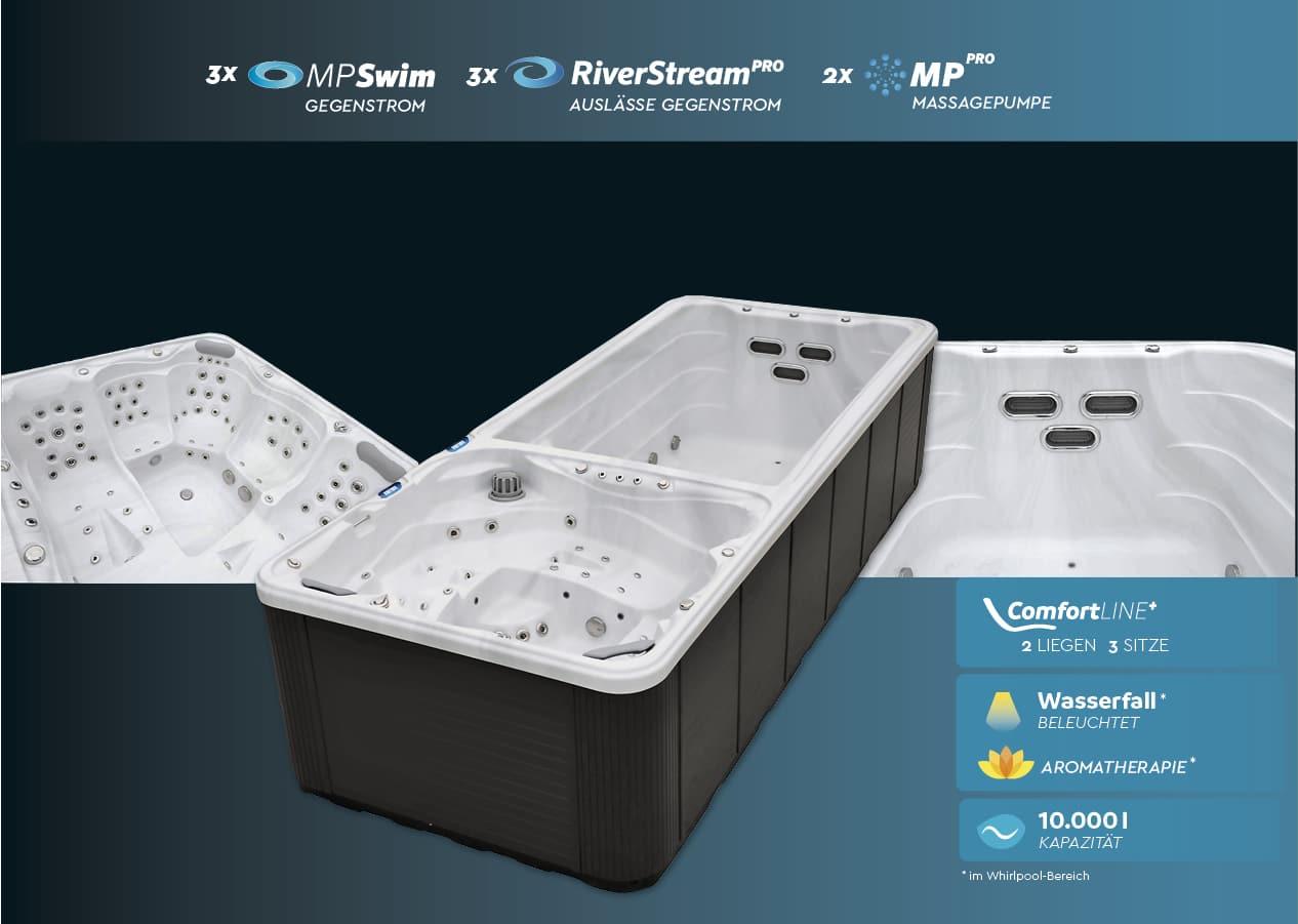 vivo spa WaterFit 2 Swim Spa