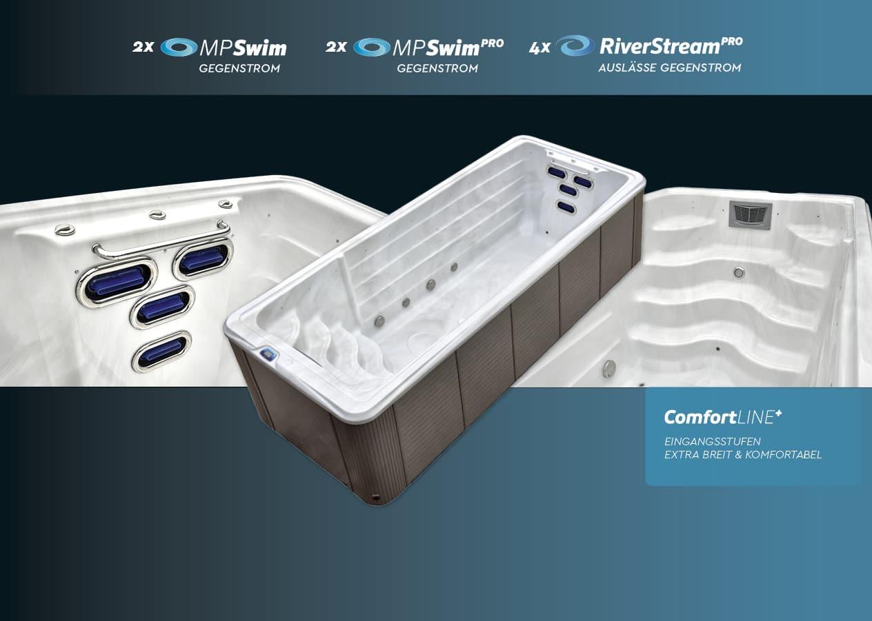 vivo spa WaterFit 4 Swim Spa